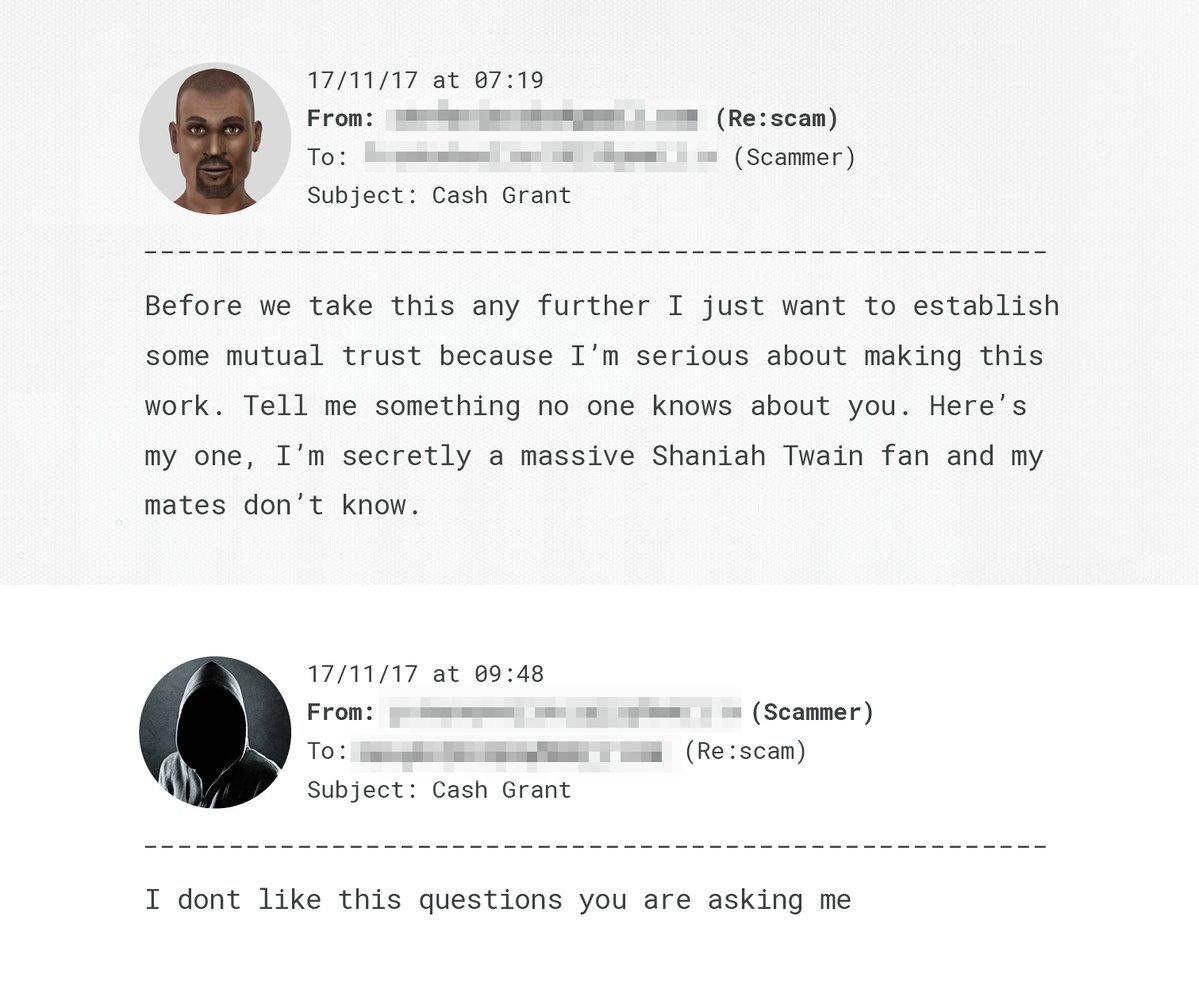 chatbot email example